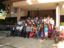 DIET Trainees on the day of Farewell Party with the Lecturers