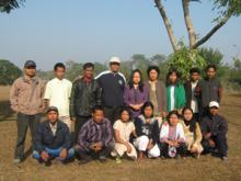 A Team of Lecturers and Trainees involved in Community Awareness Programme